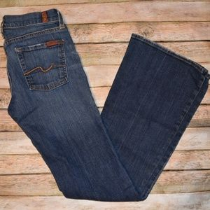 7FAM Flare Dark Wash Jeans 26